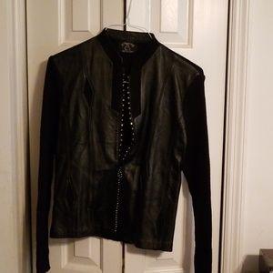 🔥Ying Ying Leather Sweater Jacket🔥